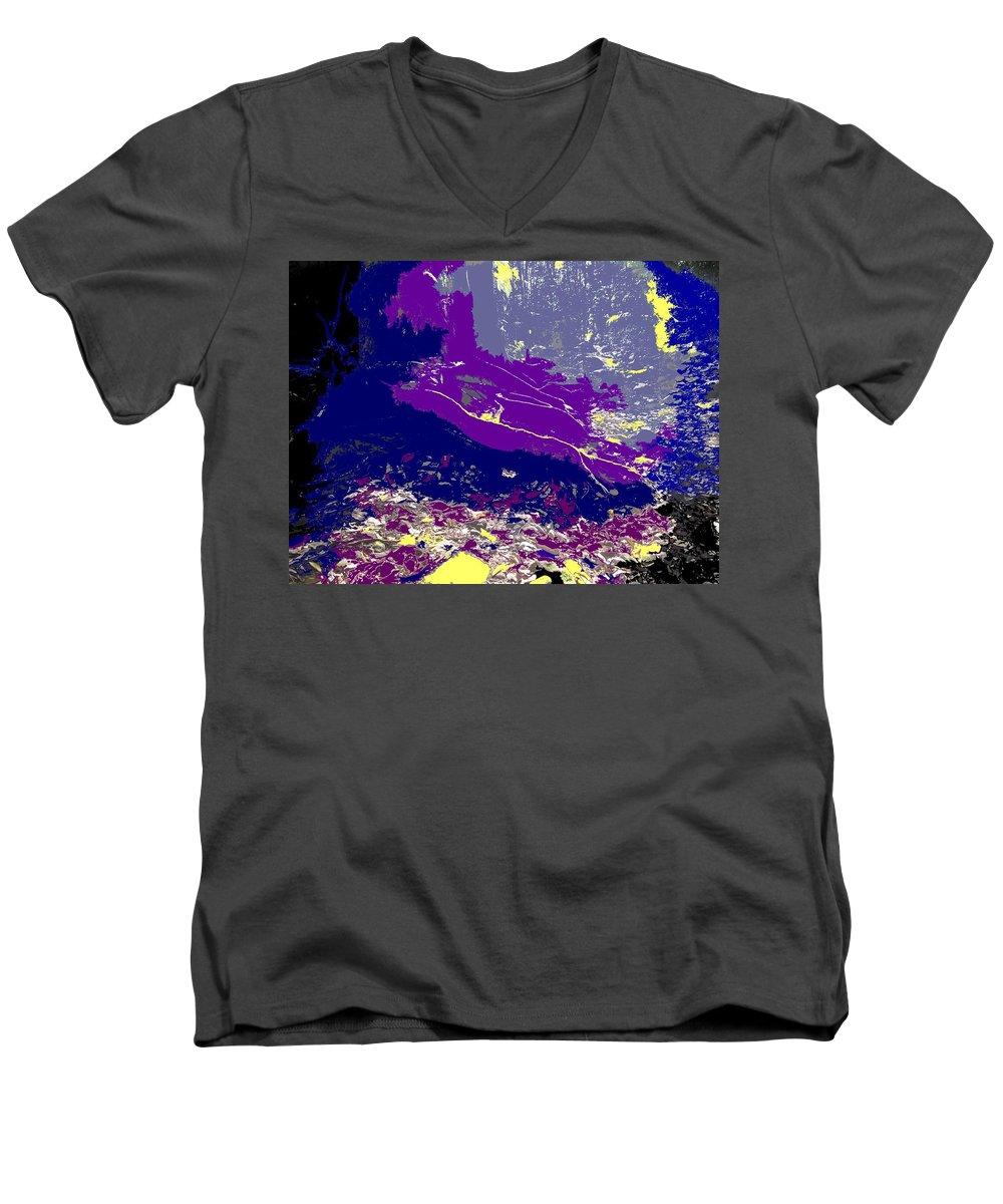 Rainforest Men's V-Neck T-Shirt featuring the photograph Rainforest Shadows by Ian MacDonald