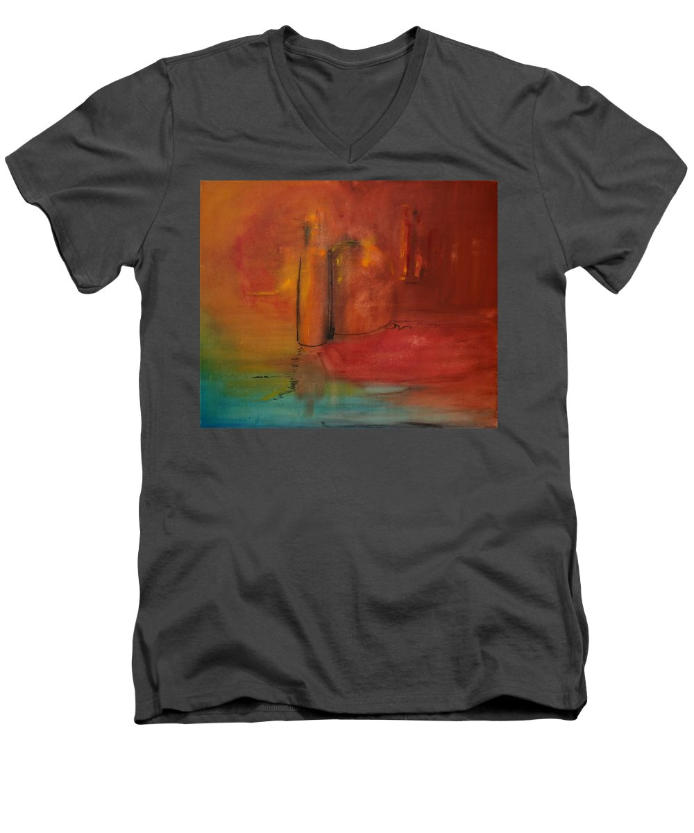 Still Men's V-Neck T-Shirt featuring the painting Reflection Of Still Life by Jack Diamond