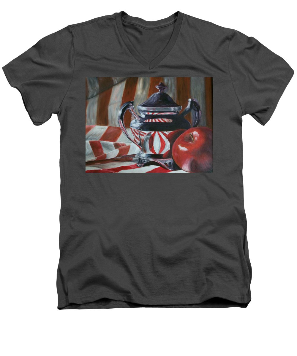 Still Life Men's V-Neck T-Shirt featuring the painting Reflections by Stephen King