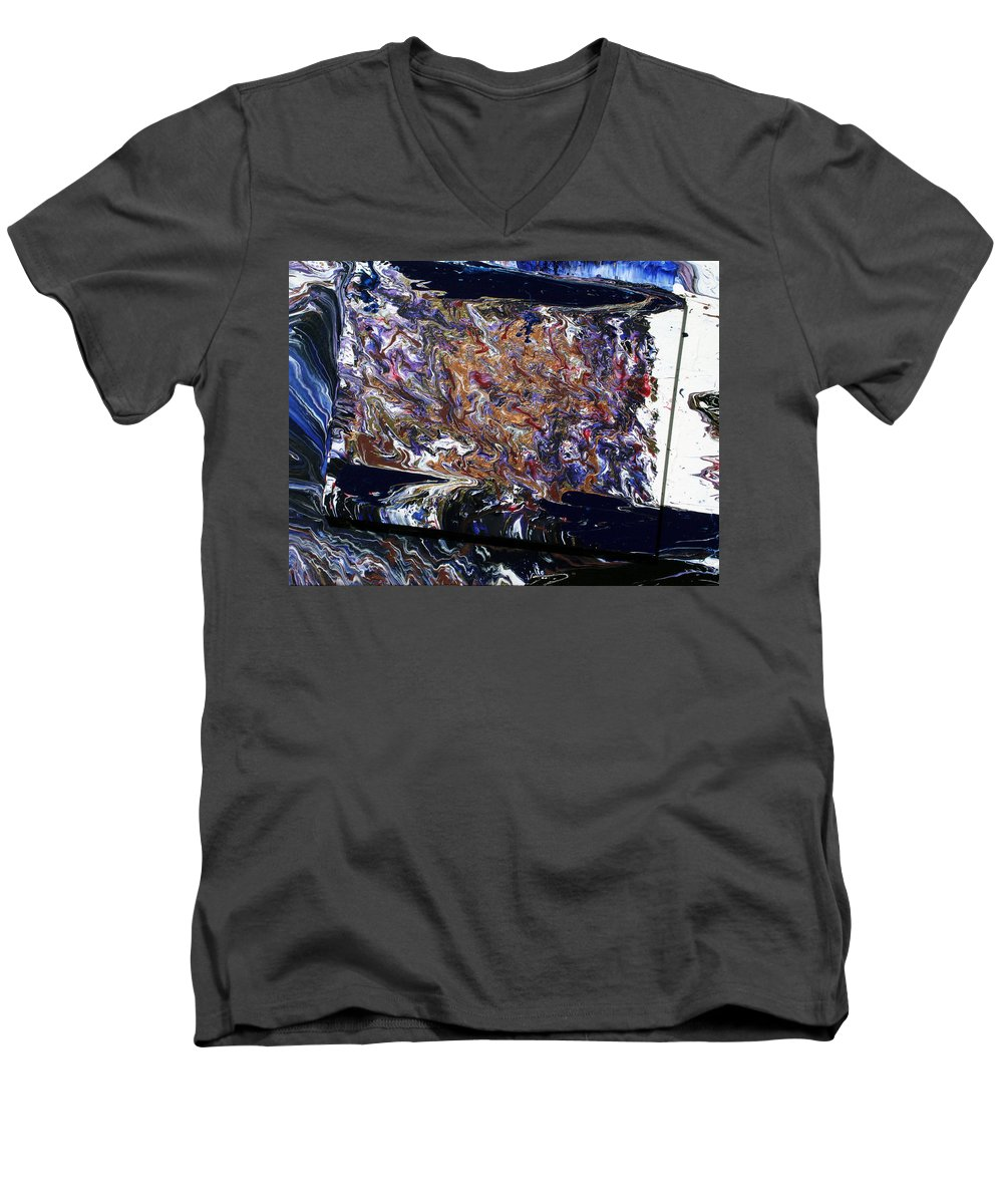 Fusionart Men's V-Neck T-Shirt featuring the painting Revolution by Ralph White