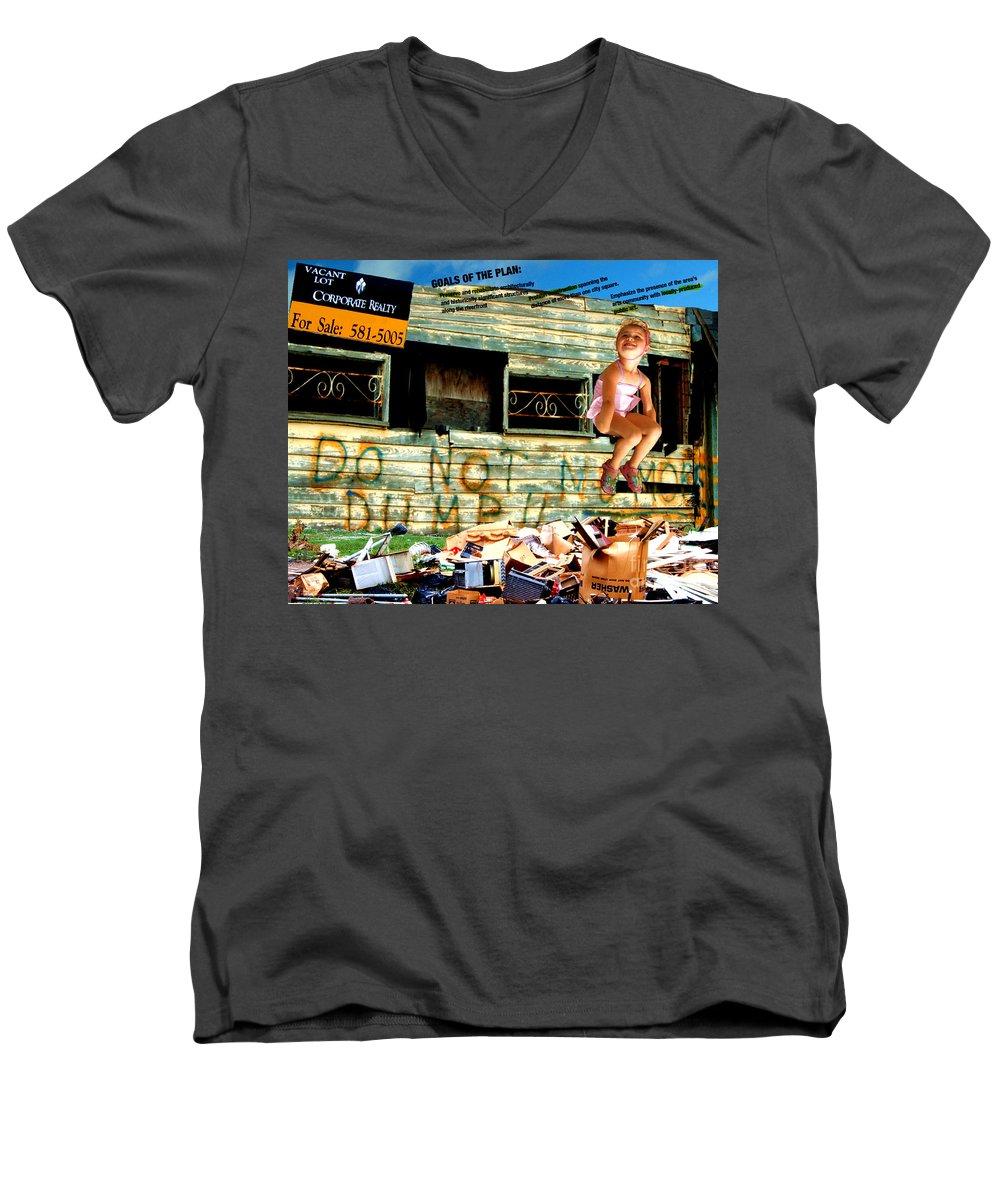 Riverfront Development Men's V-Neck T-Shirt featuring the photograph Riverfront Visions by Ze DaLuz