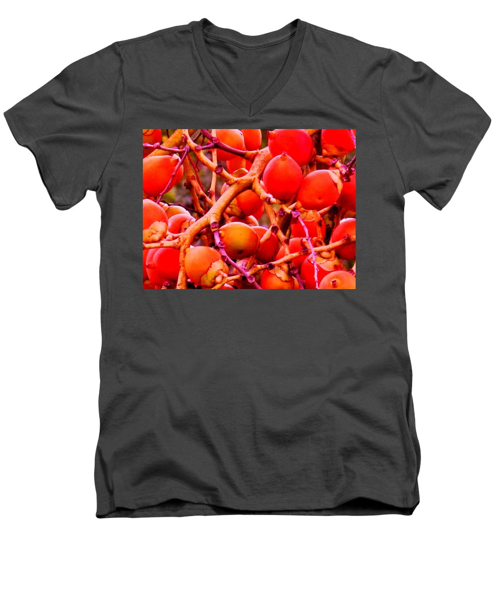 Red Men's V-Neck T-Shirt featuring the photograph Romney Red by Ian MacDonald