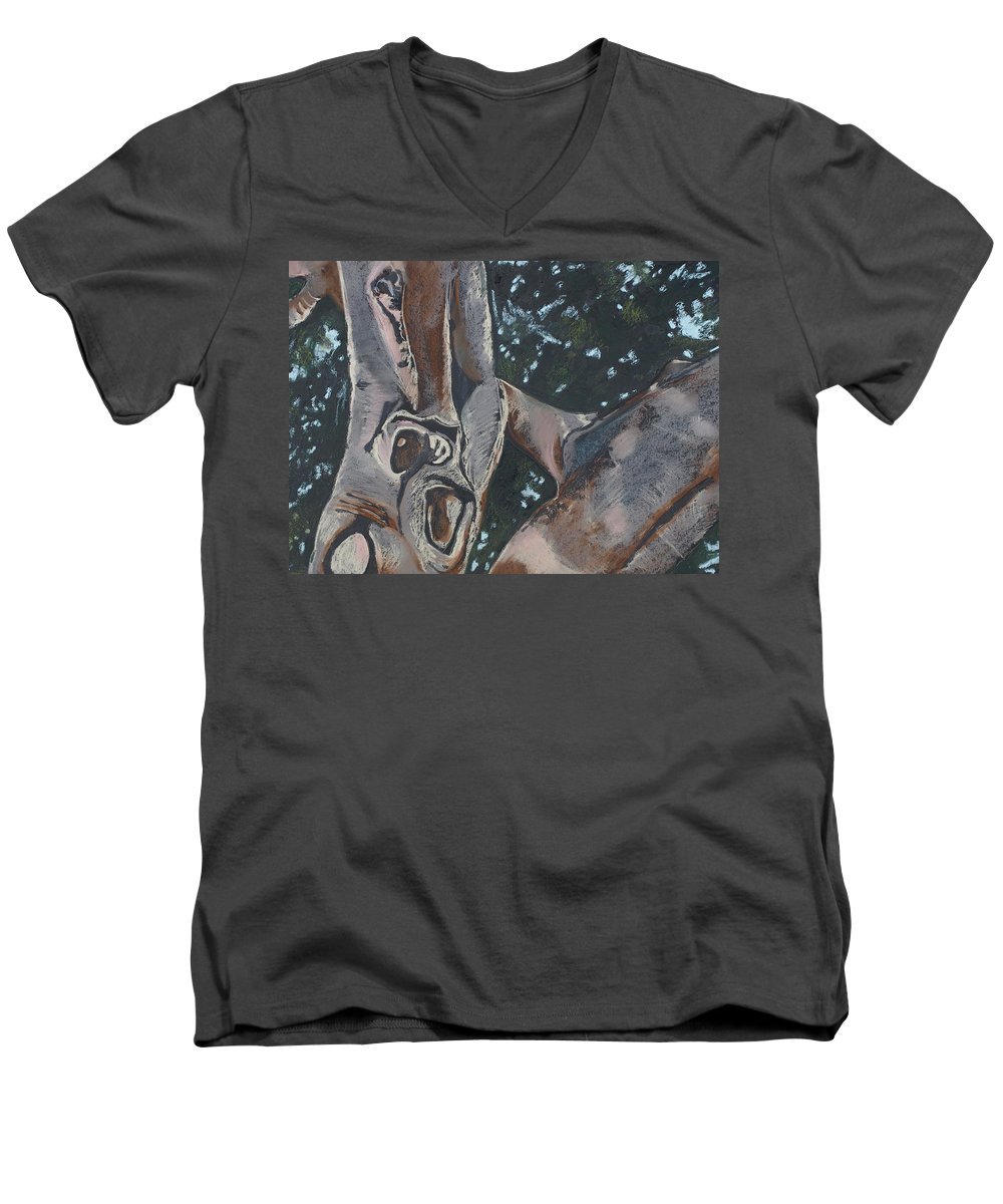Contemporary Tree Men's V-Neck T-Shirt featuring the drawing San Diego Zoo by Leah Tomaino