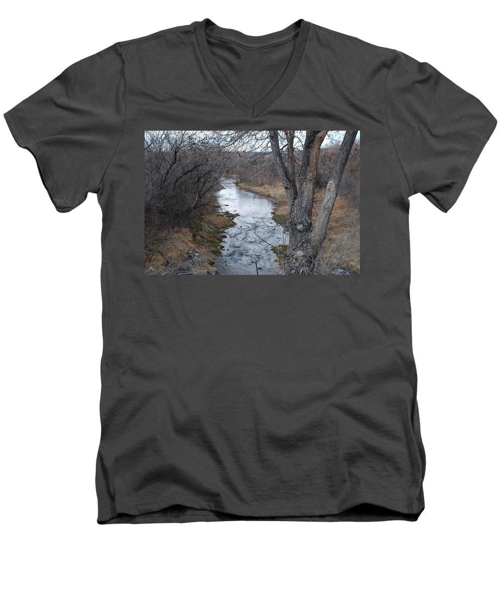 Santa Fe Men's V-Neck T-Shirt featuring the photograph Santa Fe River by Rob Hans