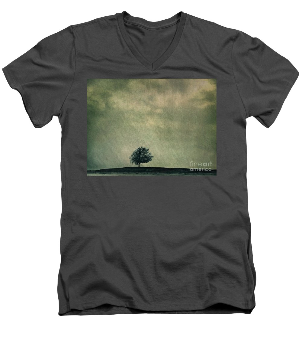 Blue Men's V-Neck T-Shirt featuring the photograph Screaming At The Top Of My Voice by Dana DiPasquale