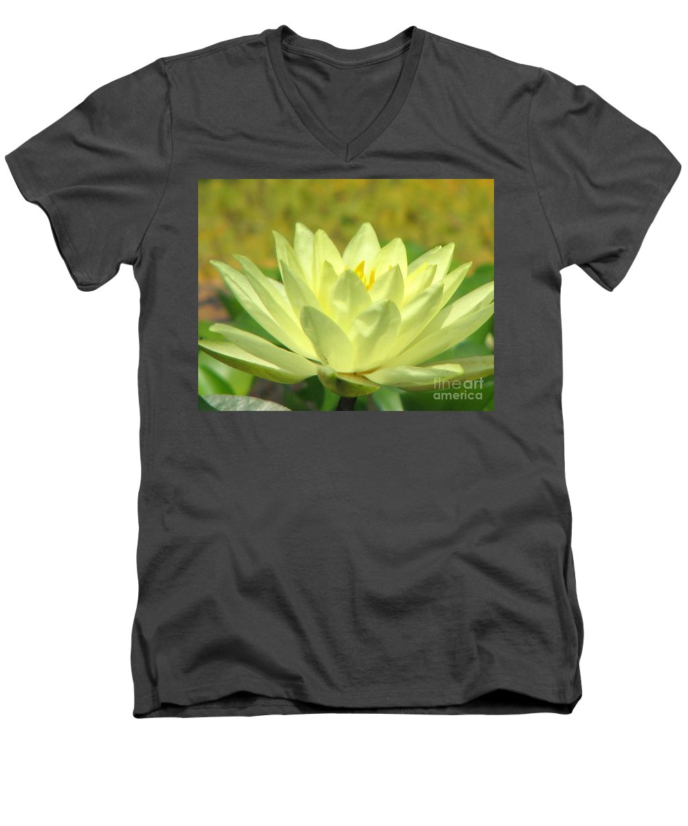 Lillypad Men's V-Neck T-Shirt featuring the photograph Shades by Amanda Barcon