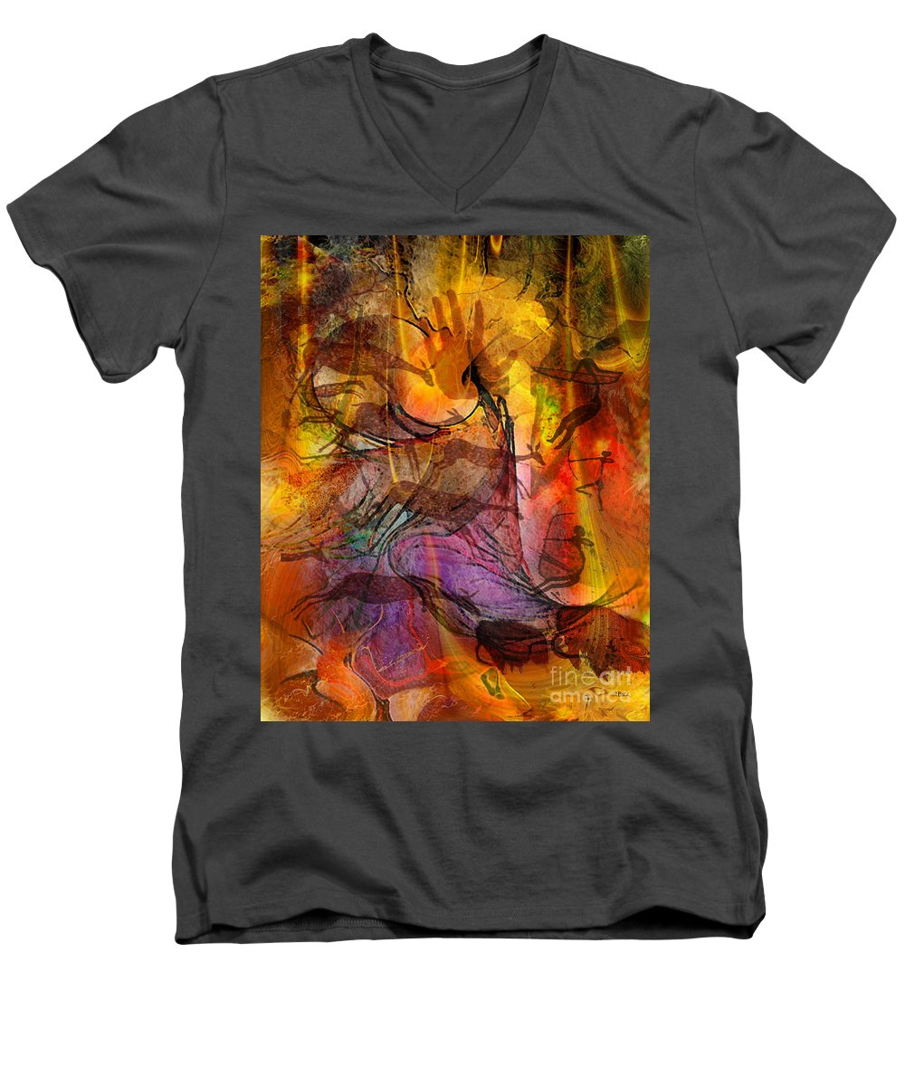 Shadow Hunters Men's V-Neck T-Shirt featuring the digital art Shadow Hunters by John Beck