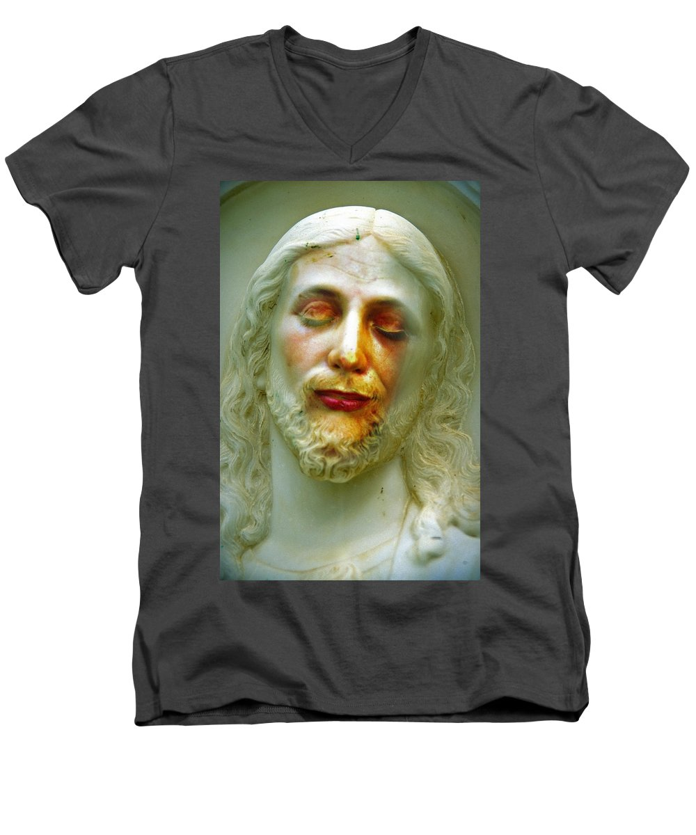 Jesus Men's V-Neck T-Shirt featuring the photograph Shesus by Skip Hunt