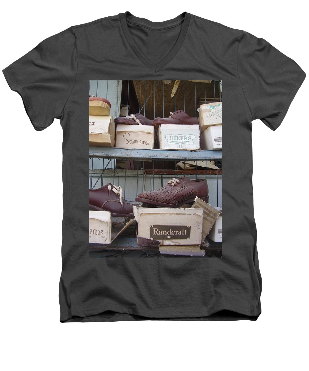 Shoes Men's V-Neck T-Shirt featuring the photograph Shoes by Flavia Westerwelle