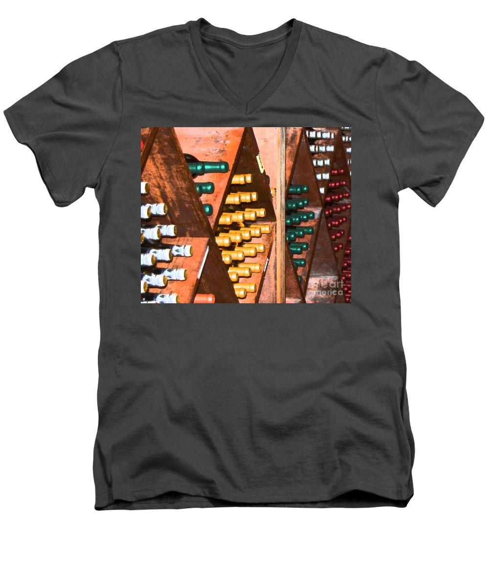 Wine Men's V-Neck T-Shirt featuring the photograph Sideways by Debbi Granruth