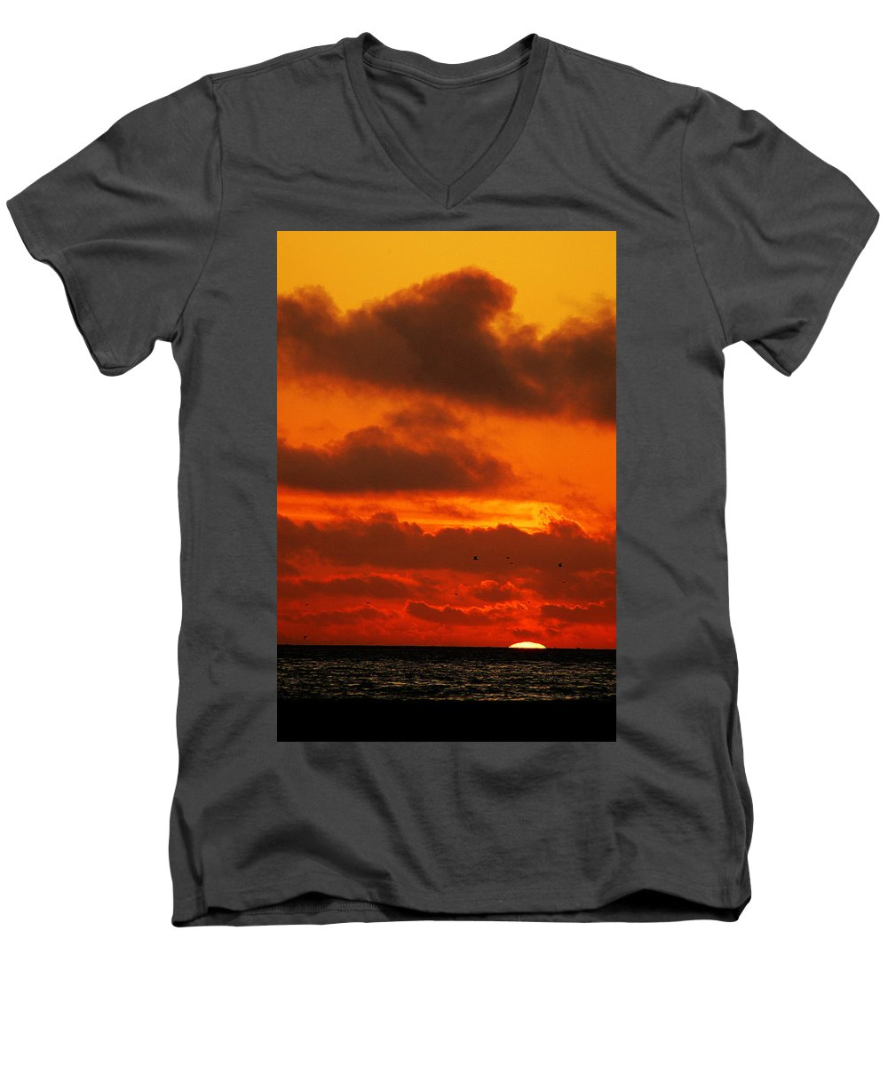 Clay Men's V-Neck T-Shirt featuring the photograph Socal Sunset by Clayton Bruster