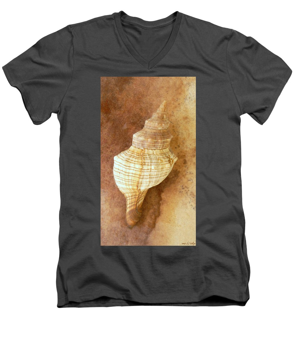 Still Life Men's V-Neck T-Shirt featuring the photograph Sounds Of The Sea by Holly Kempe