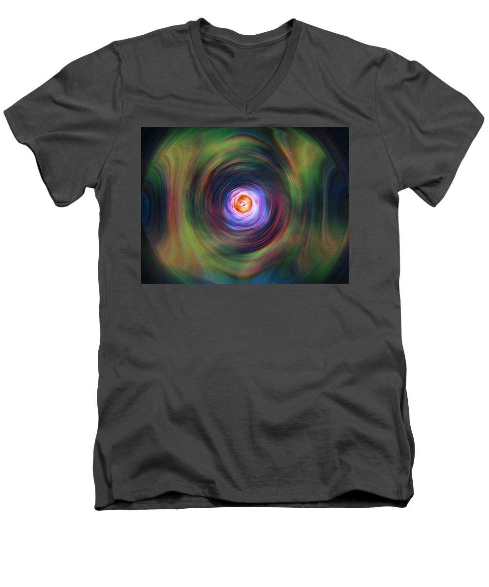 Abstrract Men's V-Neck T-Shirt featuring the digital art Space Time Sequence by Don Quackenbush