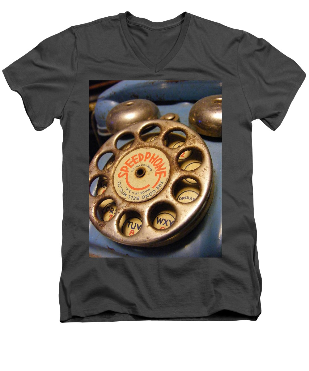 Phone Men's V-Neck T-Shirt featuring the photograph Speed Phone by Ed Smith