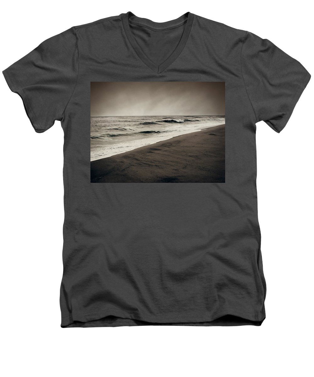 Ocean Men's V-Neck T-Shirt featuring the photograph Spending My Days Escaping Memories by Dana DiPasquale