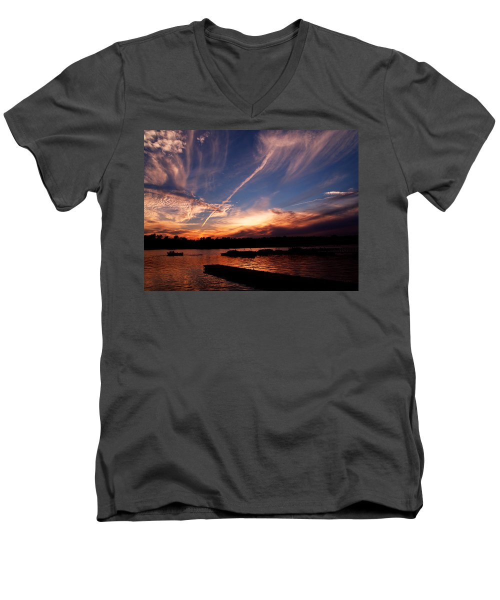 Sky Men's V-Neck T-Shirt featuring the photograph Spirits In The Sky by Gaby Swanson
