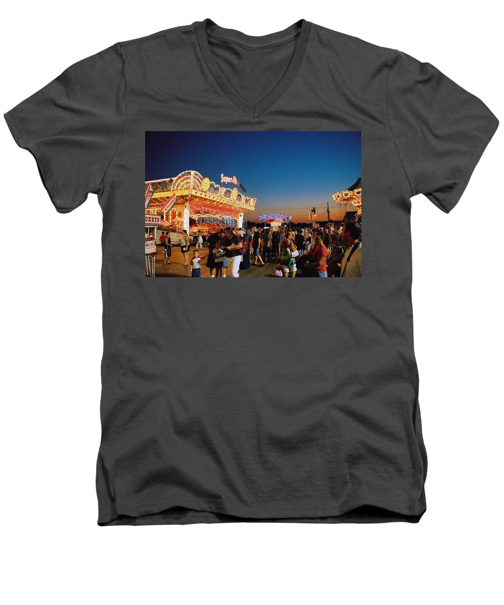 Board Walk Men's V-Neck T-Shirt featuring the photograph Super Himalaya by Steve Karol