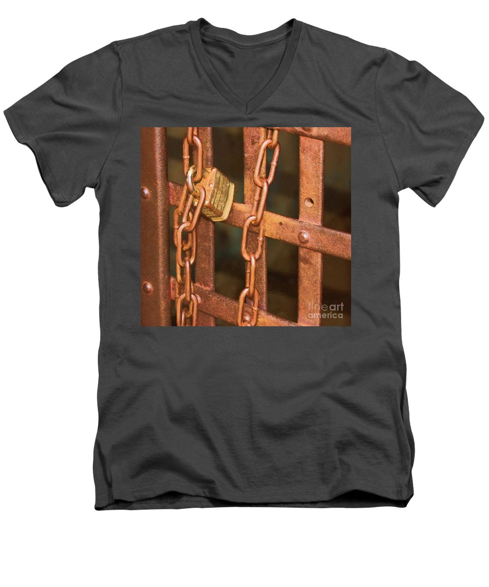 Metal Men's V-Neck T-Shirt featuring the photograph Tarnished Image by Debbi Granruth