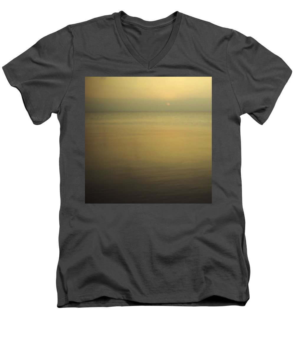 Blur Men's V-Neck T-Shirt featuring the photograph Tell Me If You Know All This by Dana DiPasquale