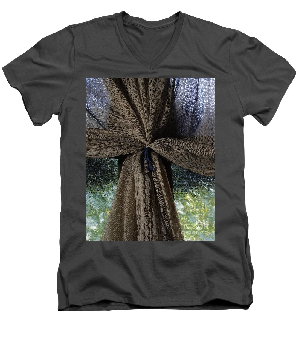 Texture Men's V-Neck T-Shirt featuring the photograph Texture And Lace by Peter Piatt