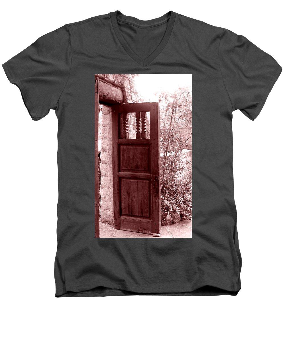 Door Men's V-Neck T-Shirt featuring the photograph The Door by Wayne Potrafka