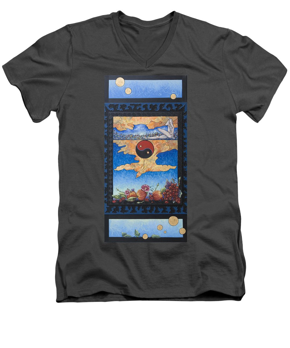 Karma Men's V-Neck T-Shirt featuring the painting The Dream by Judy Henninger
