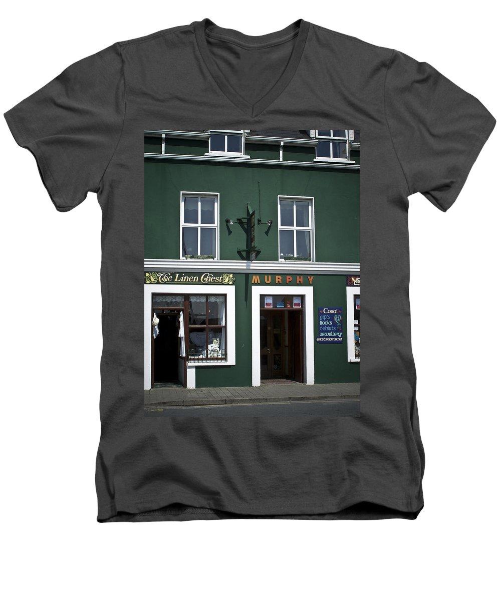 Irish Men's V-Neck T-Shirt featuring the photograph The Linen Chest Dingle Ireland by Teresa Mucha