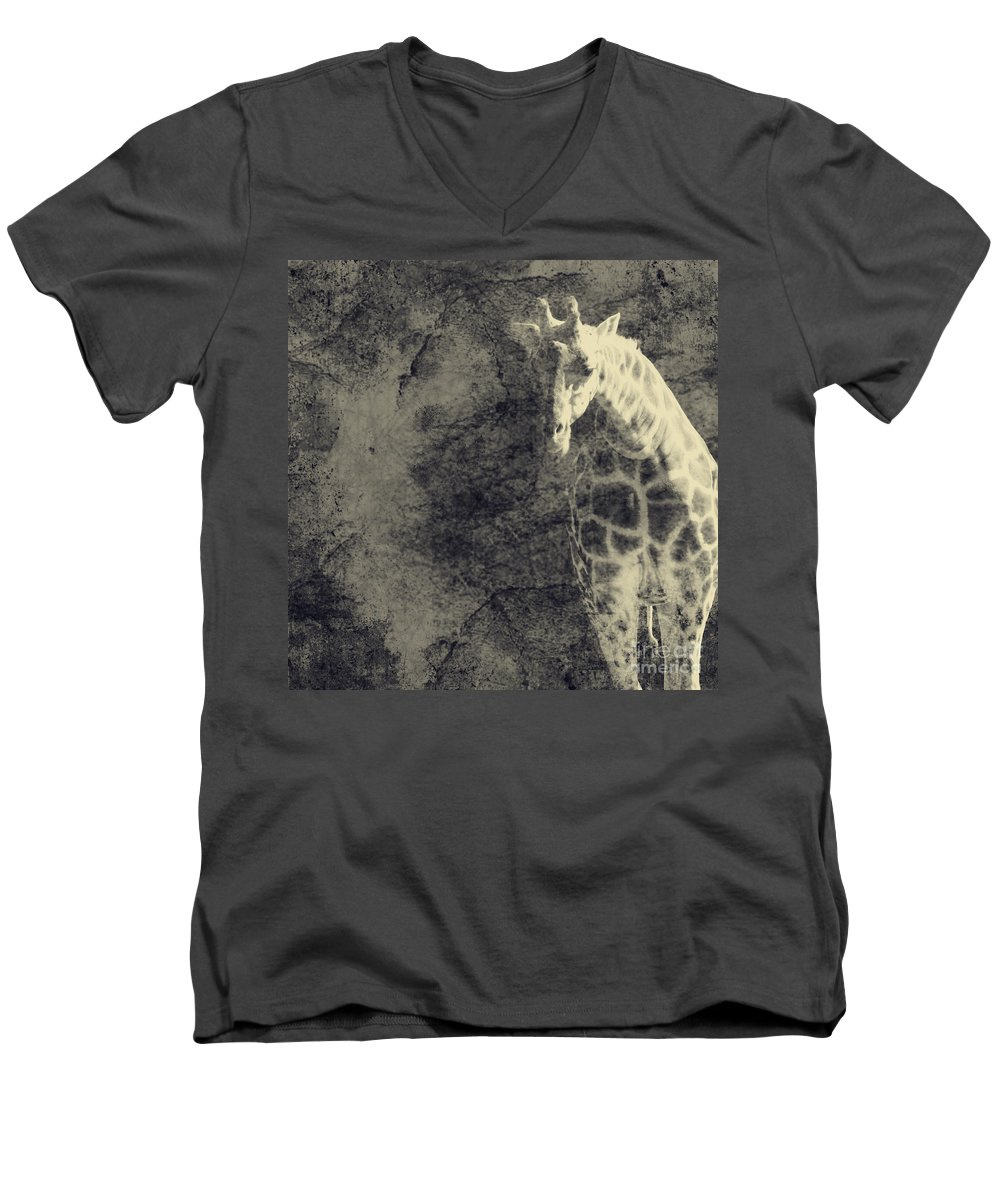 Dipasquale Men's V-Neck T-Shirt featuring the photograph ...the Vast Expanses Of The Earth by Dana DiPasquale