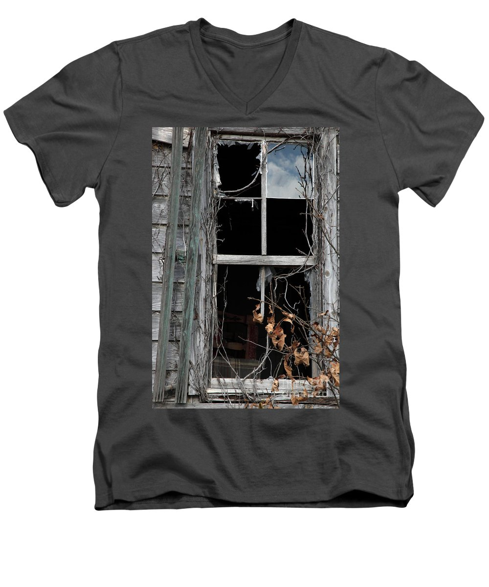 Windows Men's V-Neck T-Shirt featuring the photograph The Window by Amanda Barcon