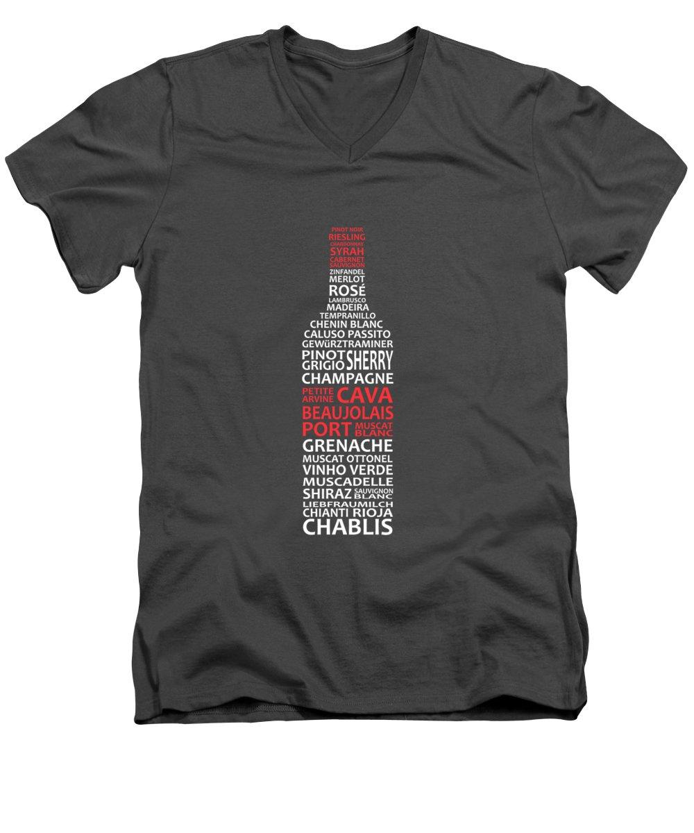 Wine V-Neck T-Shirts