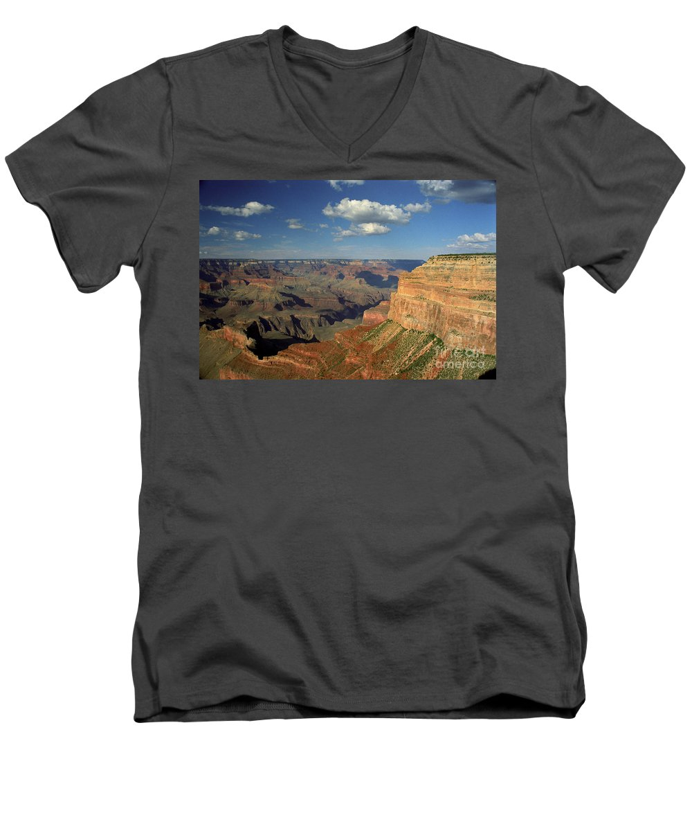 Grand Canyon Men's V-Neck T-Shirt featuring the photograph This Is My Father's World by Kathy McClure