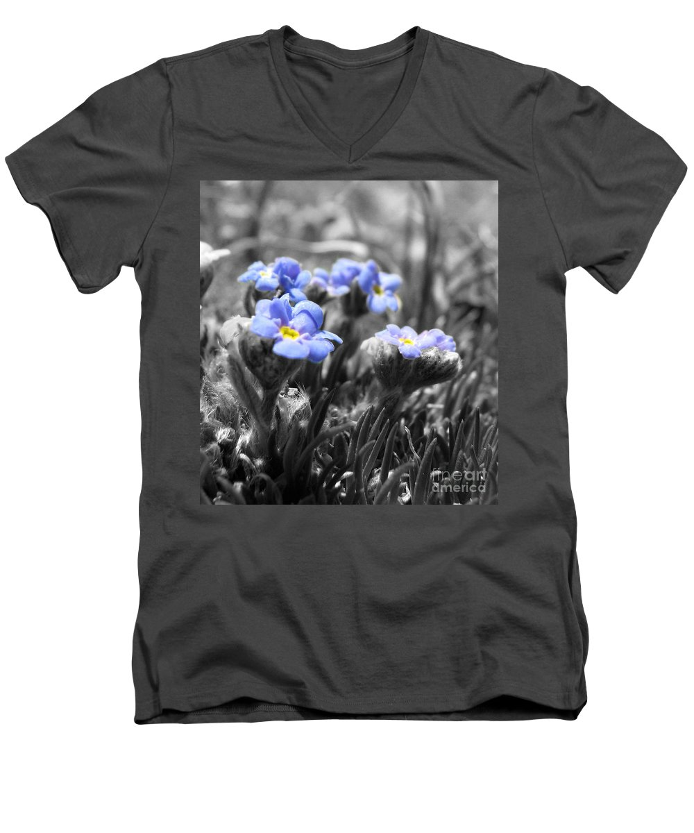 Flowers Men's V-Neck T-Shirt featuring the photograph Tiny Gems by Amanda Barcon