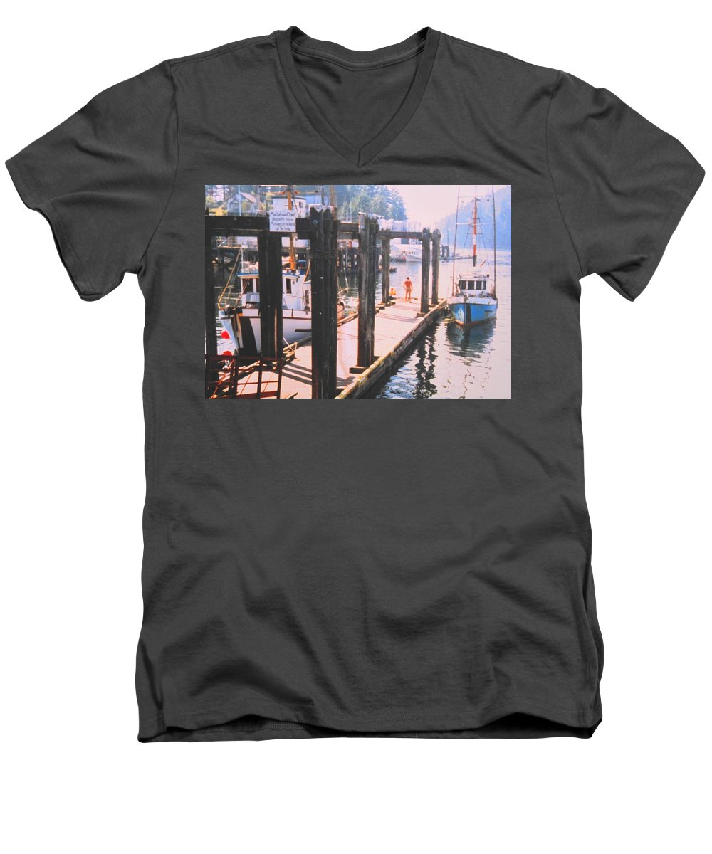 Tofino Men's V-Neck T-Shirt featuring the photograph Tofino by Ian MacDonald