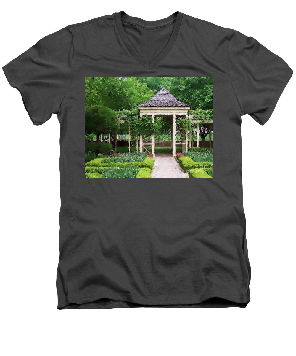 Garden Men's V-Neck T-Shirt featuring the photograph Tranquil by Debbi Granruth