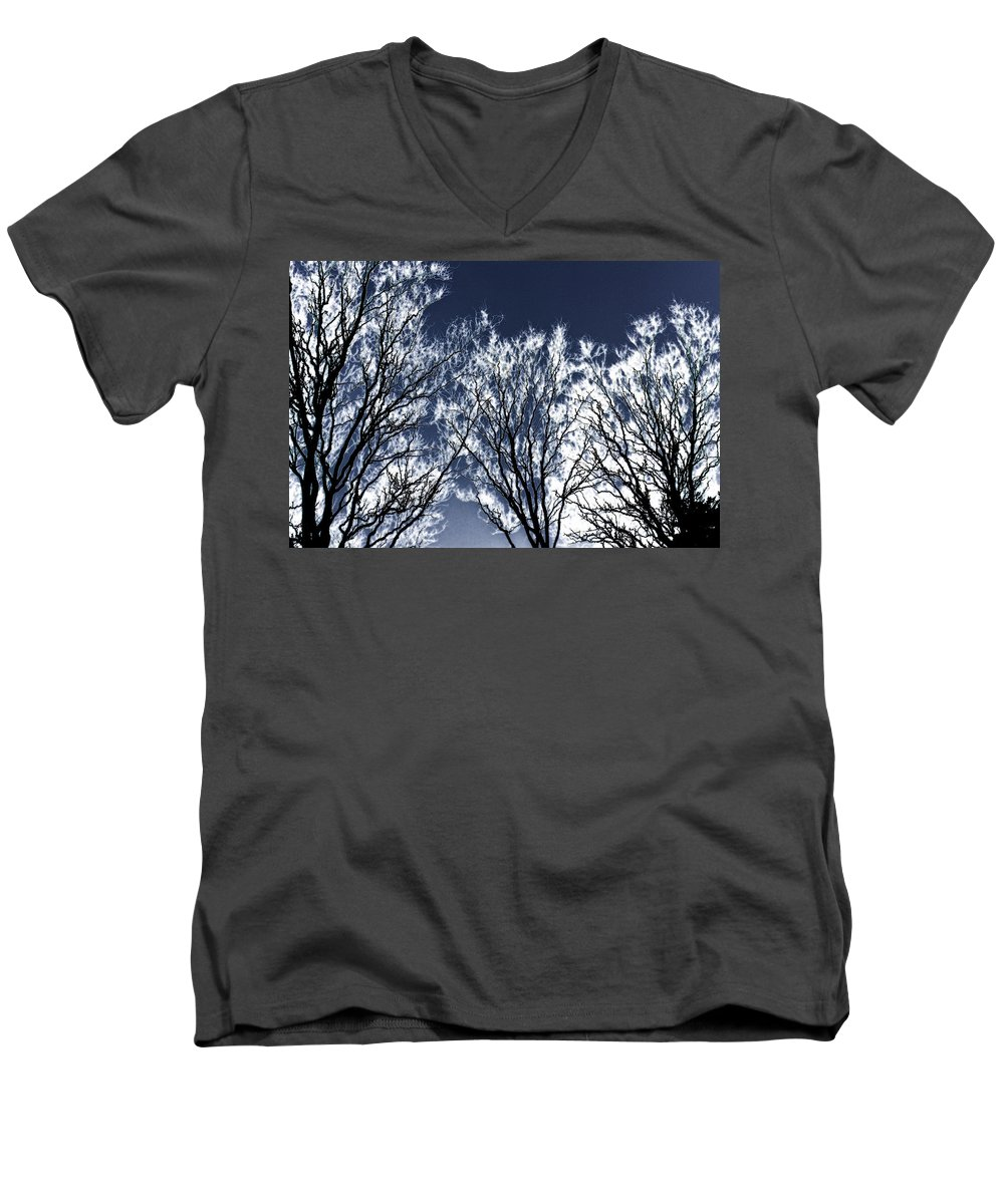 Scenic Men's V-Neck T-Shirt featuring the photograph Tree Fantasy 2 by Lee Santa