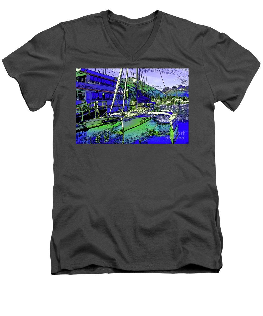 Trimaran Men's V-Neck T-Shirt