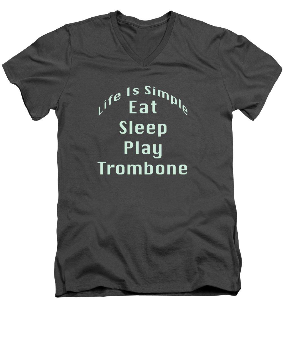 Trombone V-Neck T-Shirts
