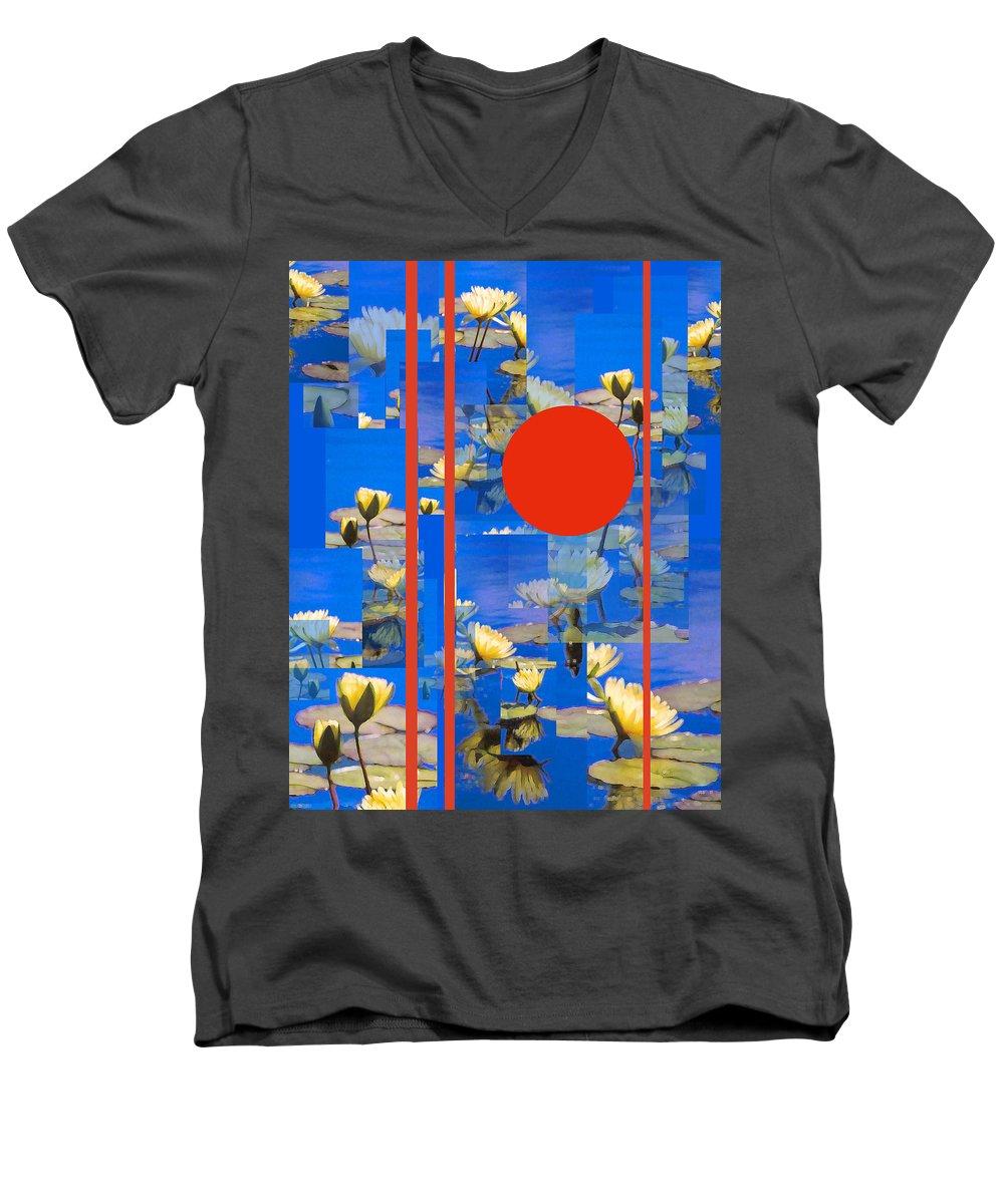 Flowers Men's V-Neck T-Shirt featuring the photograph Vertical Horizon by Steve Karol