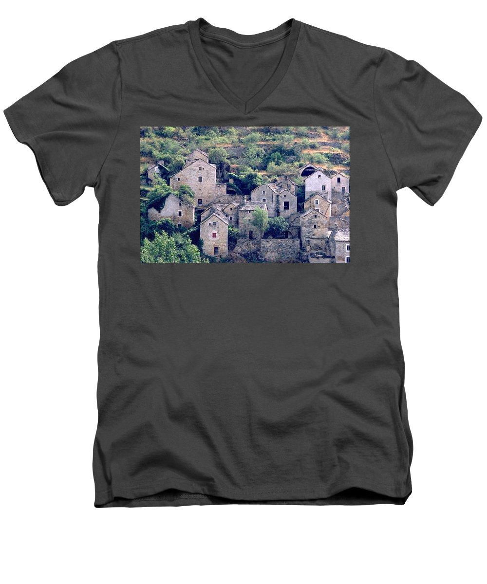 Village Men's V-Neck T-Shirt featuring the photograph Village by Flavia Westerwelle