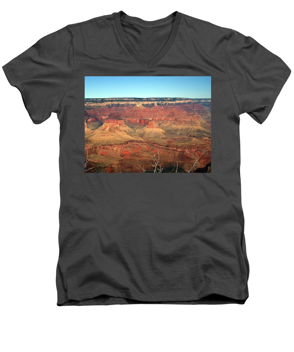 Grand Canyon Men's V-Neck T-Shirt featuring the photograph Whata View by Shelley Jones