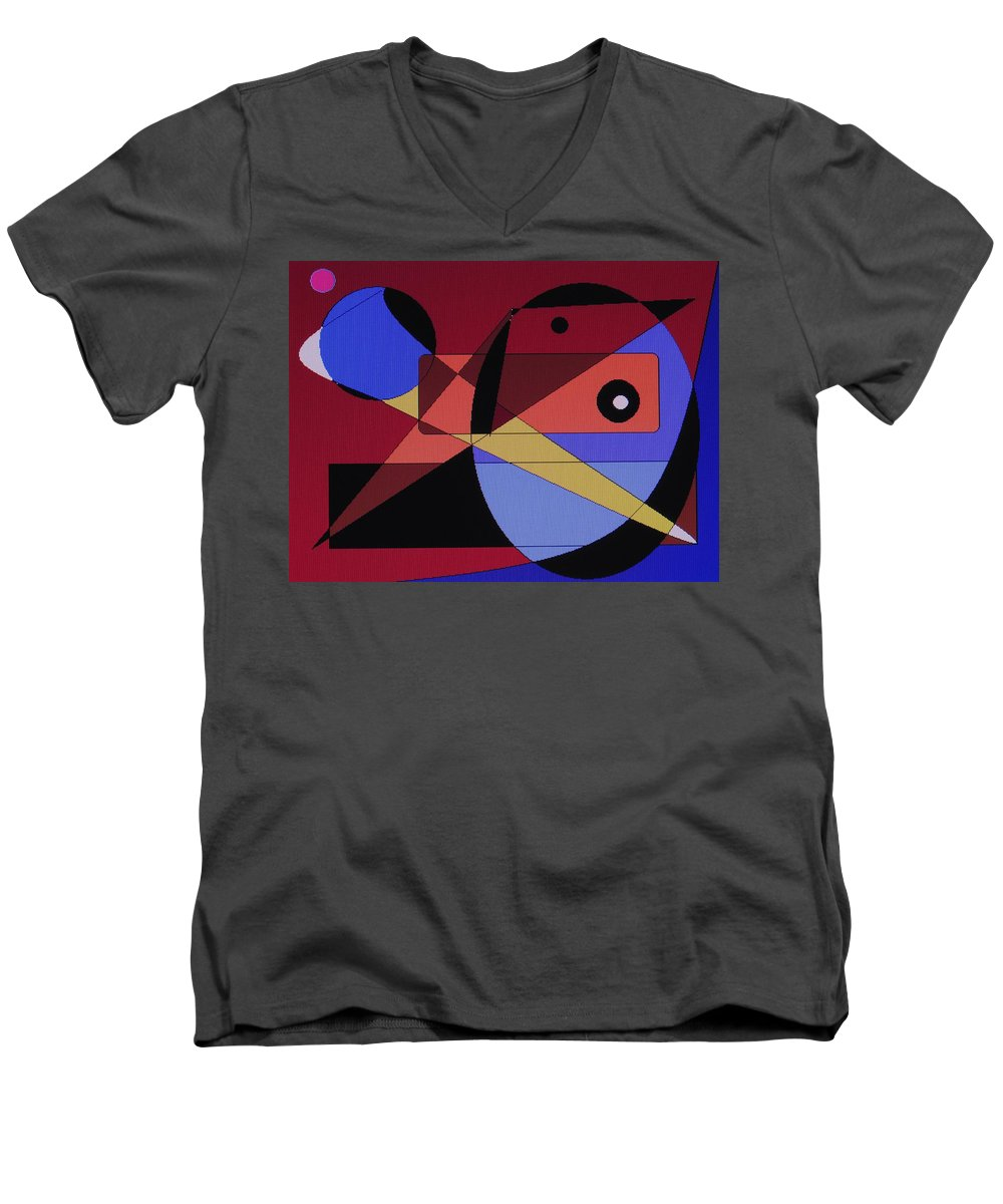 Abstract Bird Men's V-Neck T-Shirt featuring the digital art Wild Bird by Ian MacDonald