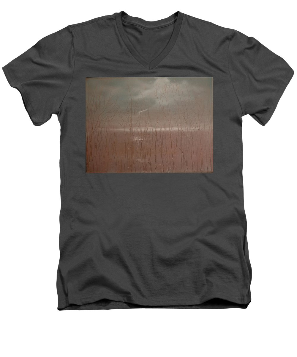 Dusk Men's V-Neck T-Shirt featuring the painting Winter Of Hope by Jack Diamond