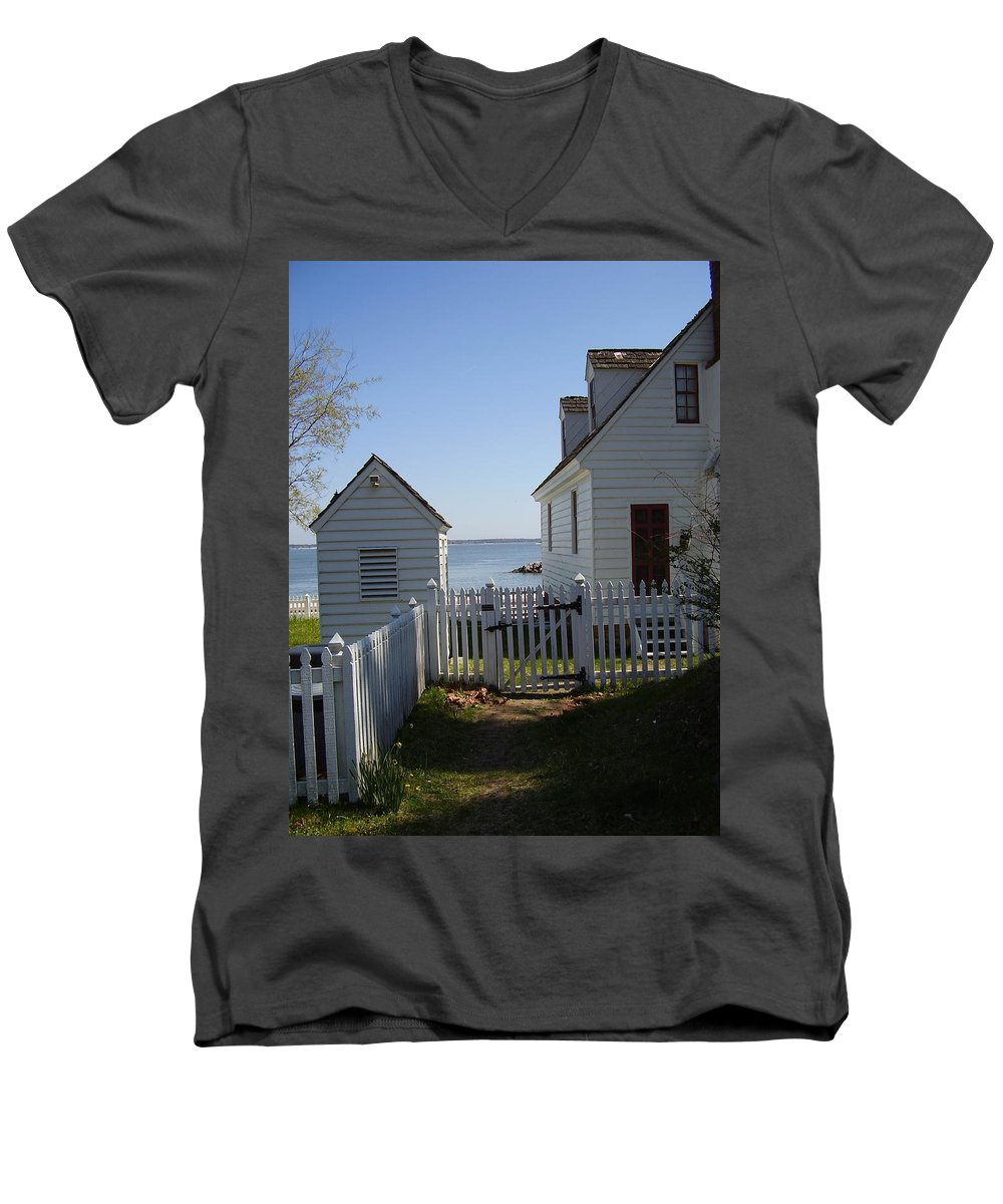 Yorktown Men's V-Neck T-Shirt featuring the photograph Yorktown by Flavia Westerwelle