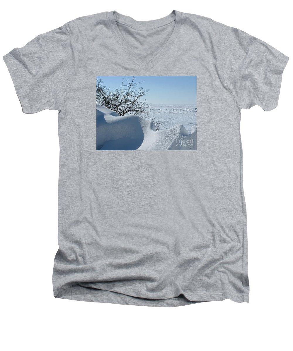 Winter Men's V-Neck T-Shirt featuring the photograph A Gentle Beauty by Ann Horn