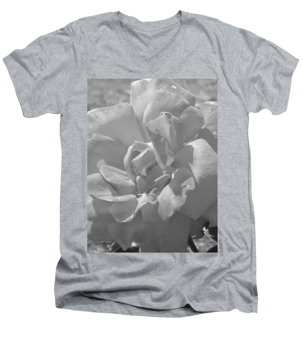 Rose Men's V-Neck T-Shirt featuring the photograph Dew Rose by Pharris Art
