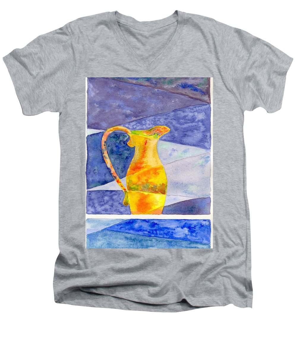 Still Life Men's V-Neck T-Shirt featuring the painting Pitcher 1 by Micah Guenther