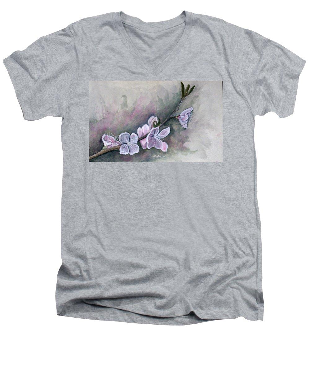 Rick Huotari Men's V-Neck T-Shirt featuring the painting Spring Splendor by Rick Huotari