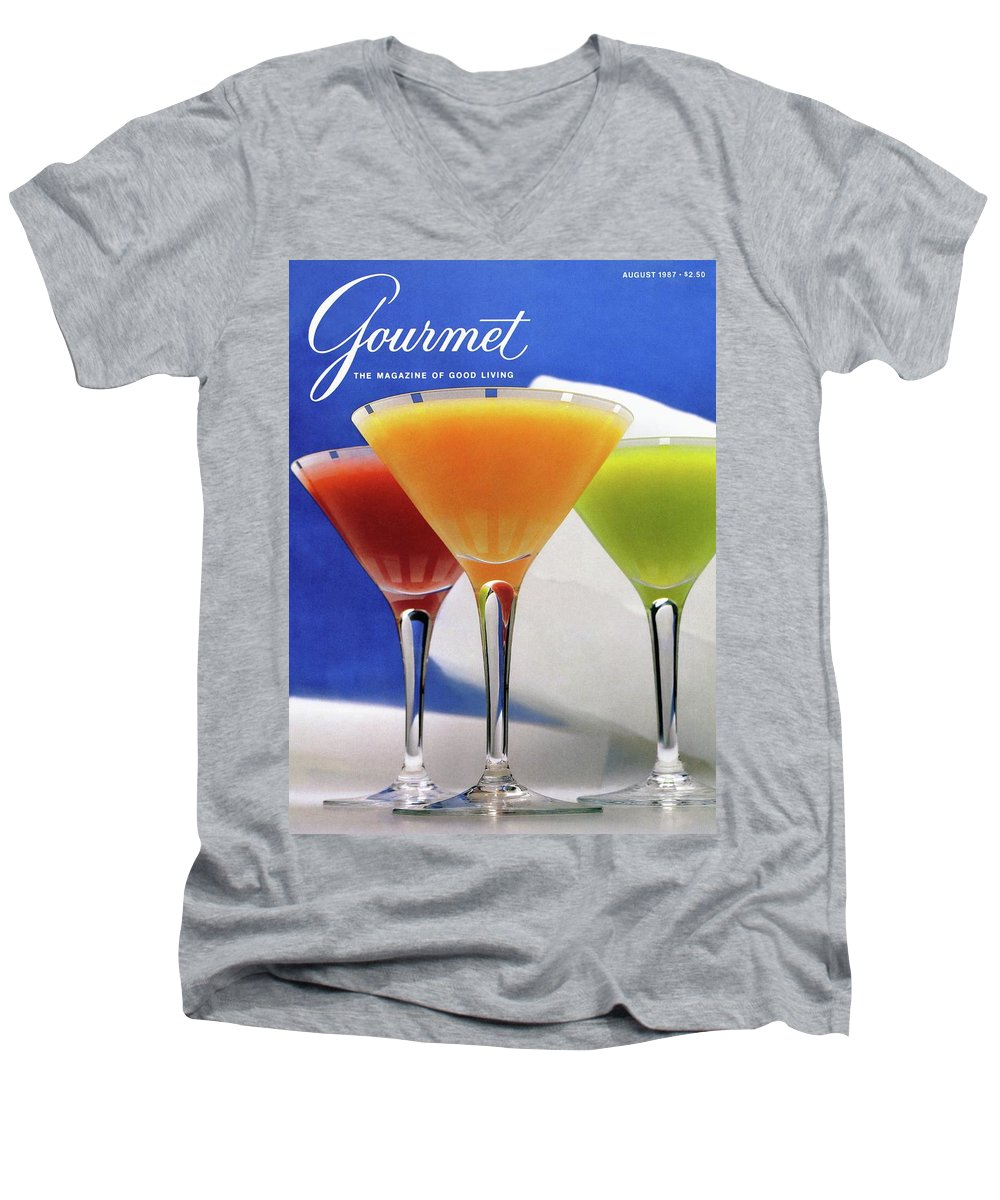 Food Men's V-Neck T-Shirt featuring the photograph Summer Cocktails by Romulo Yanes