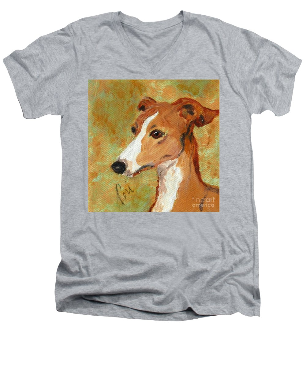 Acrylic Men's V-Neck T-Shirt featuring the painting Treasured Moments by Cori Solomon
