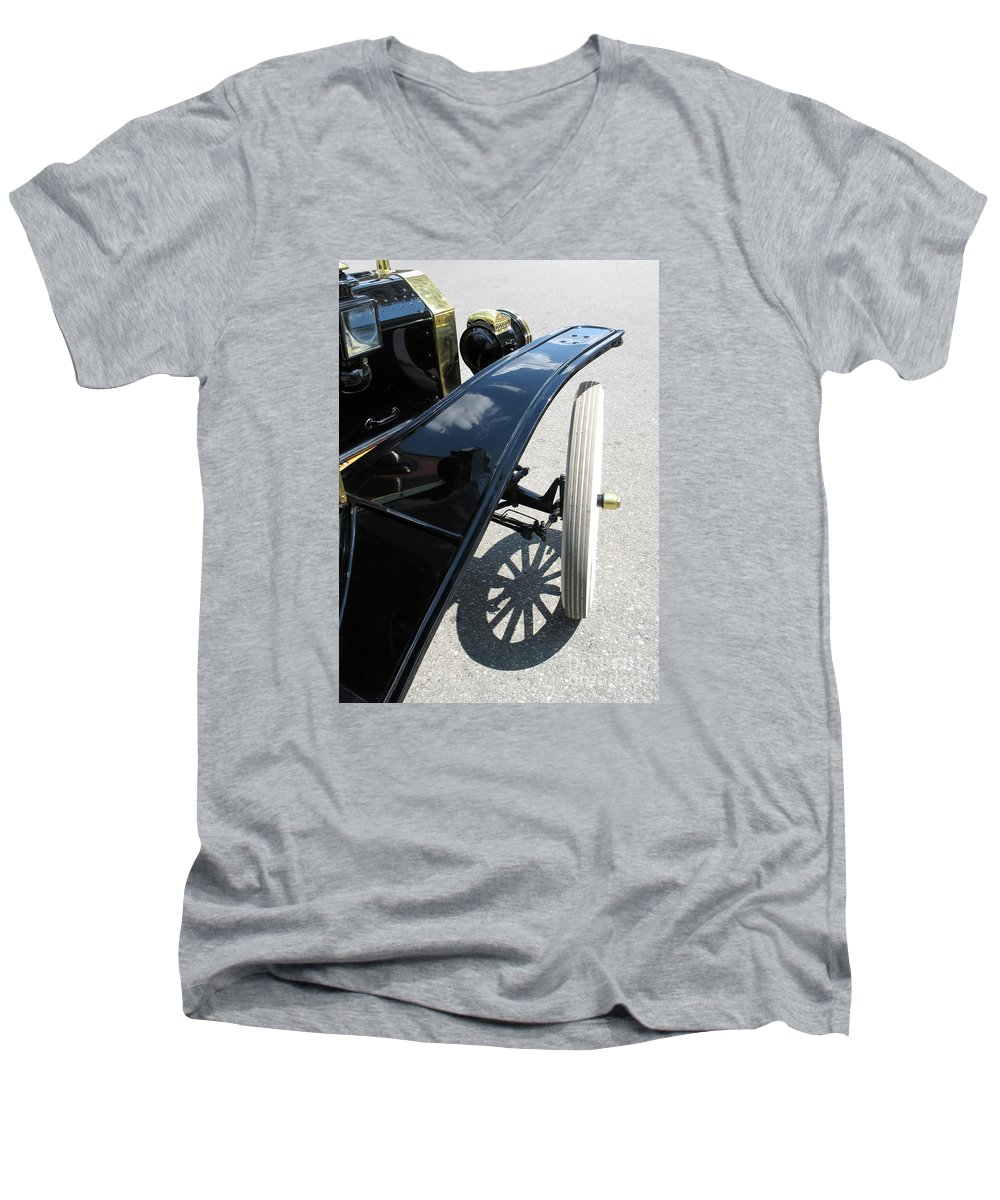 Model T Men's V-Neck T-Shirt featuring the photograph Vintage Model T by Ann Horn